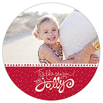 Lovely Lights Circle Holiday Flat Cards - Front