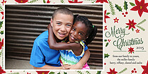 Lovely Trimming Photo Card Holiday Photo Cards - Horizontal