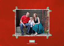 Merry Xmas Christmas Flat Cards - Back
