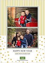 North Star Christmas Flat Cards - Back