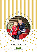 North Star Pop Circle Christmas Modern Pop Cards - Back
