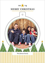 North Star Pop Circle Christmas Modern Pop Cards - Front