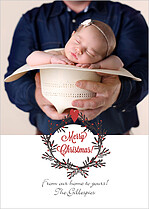 Peaceful Powder Christmas Flat Cards - Front