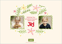 Simply Jubilant Holiday Flat Cards - Back
