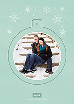 Snowball Surprise Pop Circle Holiday Modern Pop Cards - Back