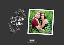 Southern Charm Date Save the Date Flat Cards - Back
