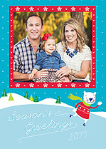 Spirited Skate Holiday Flat Cards - Front