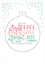 Spread Joy Pop Circle Christmas Modern Pop Cards - Front