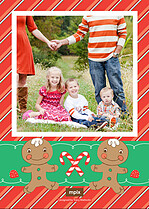 Sweet Delight Christmas Flat Cards - Back