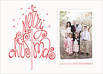 Twinkling Love Christmas Flat Cards - Front
