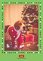 Ugly Sweater Season Holiday Flat Cards - Back