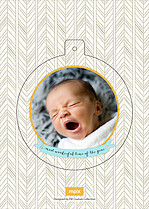 Wonderful Winter Pop Circle Christmas Modern Pop Cards - Back