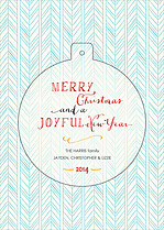 Wonderful Winter Pop Circle Christmas Modern Pop Cards - Front
