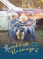Brilliant Blessings Hanukkah Flat Cards - Front
