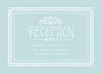 Sweet Union Reception Reception Flat Cards - Front