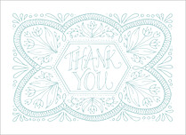 Sweet Union Thanks Thank You Folded Cards - Front