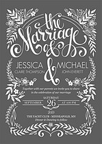 Tender Love Invitation Wedding Invites Flat Cards - Front