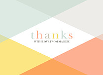 American Summer Thank You Folded Cards - Front