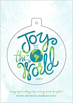 Around The World Pop Circle Holiday Modern Pop Cards - Front