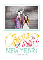Brilliant New Year New Year Flat Cards - Front
