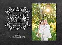 Celebrated Chalk Thanks Thank You Folded Cards - Front