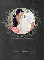 Charming Chalkboard Thanks Thank You Folded Cards - Front