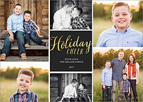 Cheerful Collage Holiday Cards - Front