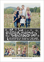 Christmas Collage Christmas Flat Cards - Front