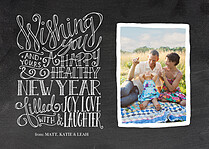 Clean Slate New Year Flat Cards - Front