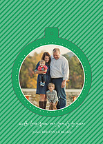 Falling Snow Green Pop Circle Christmas Modern Pop Cards - Back