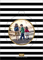 Glittering Globe Pop Circle Holiday Modern Pop Cards - Back