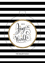 Glittering Globe Pop Circle Holiday Modern Pop Cards - Front