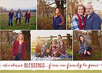Glowing Grins Christmas Flat Cards - Front