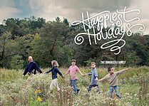 Happiest Holidays Holiday Flat Cards - Front