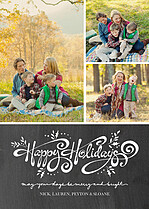 Hip Holiday Black Holiday Flat Cards - Front