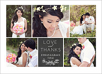Love And Thanks Thank You Folded Cards - Front