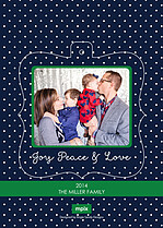 Peace And Love Pop Ornate Christmas Modern Pop Cards - Back