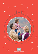 Star Bright Pop Circle Christmas Modern Pop Cards - Back