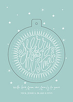 Star Bright Pop Circle Christmas Modern Pop Cards - Front
