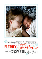 Wintry Mix Christmas Flat Cards - Front