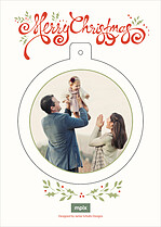 Wondrous Wreath Pop Circle Christmas Modern Pop Cards - Back