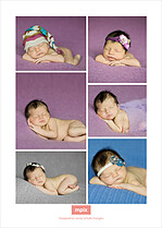 Beautiful Beginning Pink Birth Announcements Flat Cards - Back