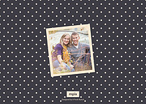 Charming Date Save the Date Flat Cards - Back