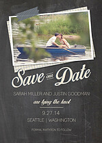 Classy Couple Date Save the Date Flat Cards - Front
