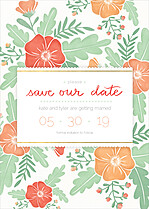 Finest Floral Date Save the Date Flat Cards - Front