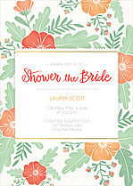 Finest Floral Shower Shower Invites Flat Cards - Front