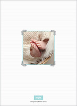Hello Baby Birth Announcements Flat Cards - Back