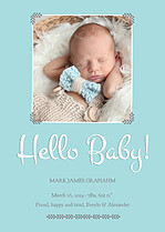 Hello Baby Birth Announcements Flat Cards - Front
