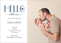 Hello Little One Birth Announcements Flat Cards - Front