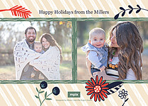 Joyous Holiday Holiday Flat Cards - Back